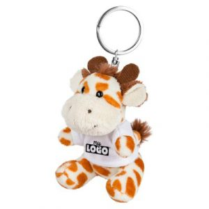 Nais la girafe porte clef en peluche personnalisable