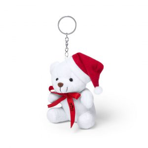 peluche porte clé de Noël avec un noeuds