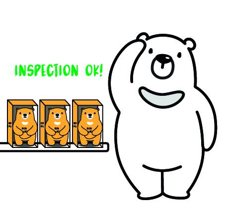 L'inspection de votre peluche publicitaire sur-mesure