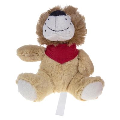 lion en peluche à personnaliser sur le foulard