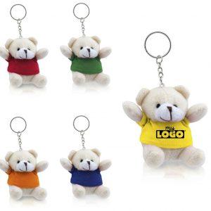 Laurie l'ours porte-clé en peluche personnalisable